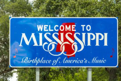 Welcome to Mississipi sign